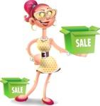 Fashion Girl Cartoon 3D Vector Character AKA Miss Charlene - Sale