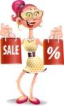 Fashion Girl Cartoon 3D Vector Character AKA Miss Charlene - Sale 2
