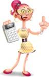 Fashion Girl Cartoon 3D Vector Character AKA Miss Charlene - Calculator