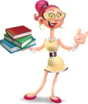 Fashion Girl Cartoon 3D Vector Character AKA Miss Charlene - Book 2