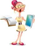 Fashion Girl Cartoon 3D Vector Character AKA Miss Charlene - Book and iPad