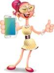 Fashion Girl Cartoon 3D Vector Character AKA Miss Charlene - iPhone