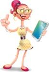 Fashion Girl Cartoon 3D Vector Character AKA Miss Charlene - iPad 3