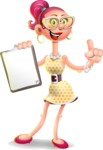 Fashion Girl Cartoon 3D Vector Character AKA Miss Charlene - Notepad 1