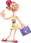 Fashion Girl Cartoon 3D Vector Character AKA Miss Charlene - Briefcase 2