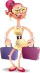 Fashion Girl Cartoon 3D Vector Character AKA Miss Charlene - Briefcase 3