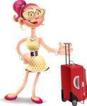 Fashion Girl Cartoon 3D Vector Character AKA Miss Charlene - Travel 1