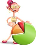 Fashion Girl Cartoon 3D Vector Character AKA Miss Charlene - Chart