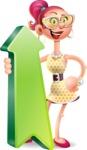 Fashion Girl Cartoon 3D Vector Character AKA Miss Charlene - Pointer 1