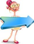 Fashion Girl Cartoon 3D Vector Character AKA Miss Charlene - Pointer 2