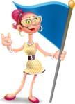 Fashion Girl Cartoon 3D Vector Character AKA Miss Charlene - Checkpoint