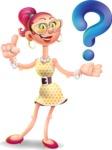 Fashion Girl Cartoon 3D Vector Character AKA Miss Charlene - Question