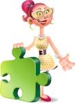 Fashion Girl Cartoon 3D Vector Character AKA Miss Charlene - Puzzle
