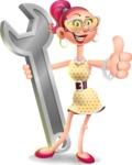 Fashion Girl Cartoon 3D Vector Character AKA Miss Charlene - Repair