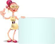 Fashion Girl Cartoon 3D Vector Character AKA Miss Charlene - Sign 7