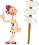 Fashion Girl Cartoon 3D Vector Character AKA Miss Charlene - Crossroad