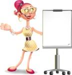 Fashion Girl Cartoon 3D Vector Character AKA Miss Charlene - Presentation 1