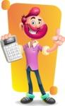 Hipster with Beard Cartoon Vector 3D Character AKA Bruno Smashing - Shape 5