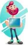 Hipster with Beard Cartoon Vector 3D Character AKA Bruno Smashing - Shape 6