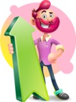 Hipster with Beard Cartoon Vector 3D Character AKA Bruno Smashing - Shape 8