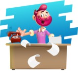 Hipster with Beard Cartoon Vector 3D Character AKA Bruno Smashing - Shape 9