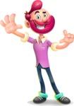 Hipster with Beard Cartoon Vector 3D Character AKA Bruno Smashing - Hello
