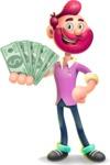 Hipster with Beard Cartoon Vector 3D Character AKA Bruno Smashing - Show me  the Money