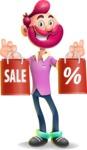 Hipster with Beard Cartoon Vector 3D Character AKA Bruno Smashing - Sale 2