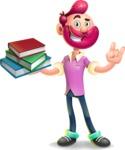 Hipster with Beard Cartoon Vector 3D Character AKA Bruno Smashing - Book 2