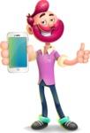 Hipster with Beard Cartoon Vector 3D Character AKA Bruno Smashing - iPhone