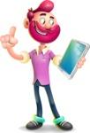 Hipster with Beard Cartoon Vector 3D Character AKA Bruno Smashing - iPad 3