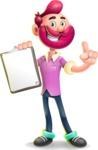 Hipster with Beard Cartoon Vector 3D Character AKA Bruno Smashing - Notepad 1