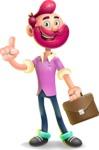 Hipster with Beard Cartoon Vector 3D Character AKA Bruno Smashing - Briefcase 2
