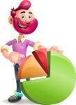 Hipster with Beard Cartoon Vector 3D Character AKA Bruno Smashing - Chart
