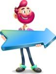 Hipster with Beard Cartoon Vector 3D Character AKA Bruno Smashing - Pointer 2