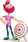 Hipster with Beard Cartoon Vector 3D Character AKA Bruno Smashing - Target
