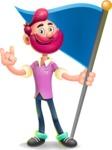 Hipster with Beard Cartoon Vector 3D Character AKA Bruno Smashing - Checkpoint