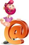 Hipster with Beard Cartoon Vector 3D Character AKA Bruno Smashing - Email