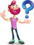 Hipster with Beard Cartoon Vector 3D Character AKA Bruno Smashing - Question
