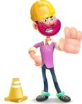 Hipster with Beard Cartoon Vector 3D Character AKA Bruno Smashing - Under Construction 1
