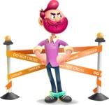 Hipster with Beard Cartoon Vector 3D Character AKA Bruno Smashing - Under Construction 2