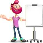 Hipster with Beard Cartoon Vector 3D Character AKA Bruno Smashing - Presentation 1