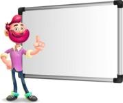 Hipster with Beard Cartoon Vector 3D Character AKA Bruno Smashing - Presentation 3