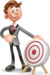 Rich Man Cartoon Vector 3D Character AKA Nathaniel as Mr. Style - Target