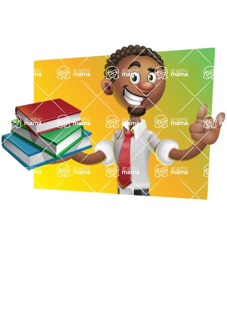African-American Businessman 3D Vector Cartoon Character - Shape 3