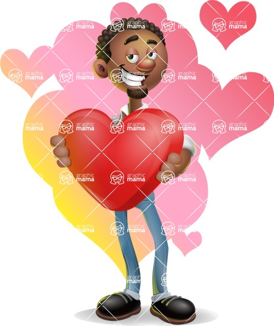 African-American Businessman 3D Vector Cartoon Character - Shape 10