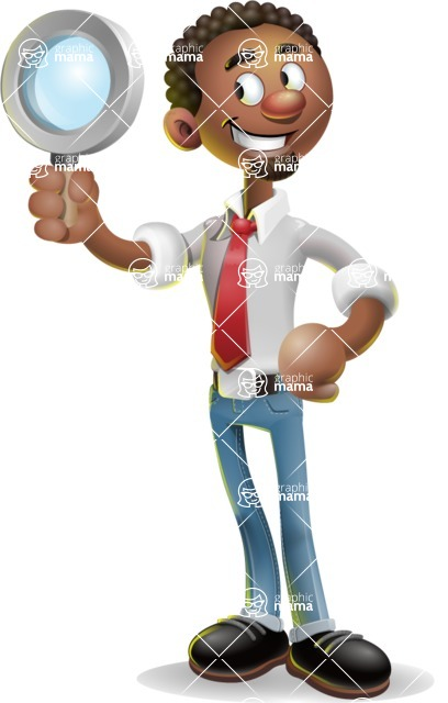 African-American Businessman 3D Vector Cartoon Character - Search