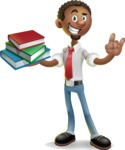 African-American Businessman 3D Vector Cartoon Character - Book 2