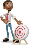 African-American Businessman 3D Vector Cartoon Character - Target