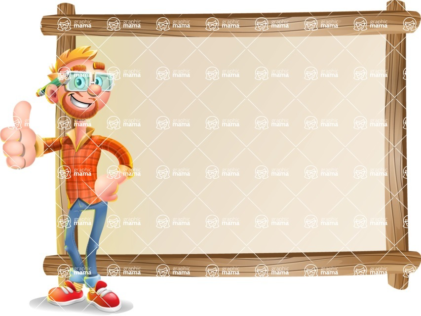 Casual Man with Glasses 3D Vector Cartoon Character - Presentation 5